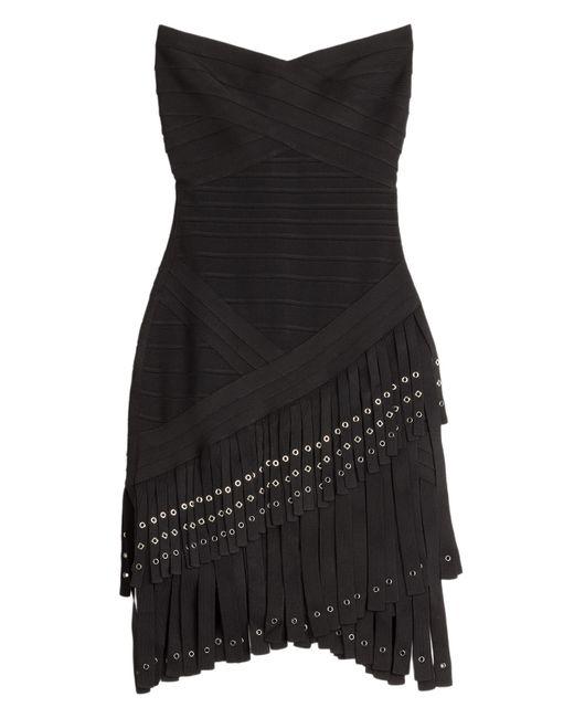 Hervé Léger | Женское Чёрный Fringed Bandage Dress Gr. Xs