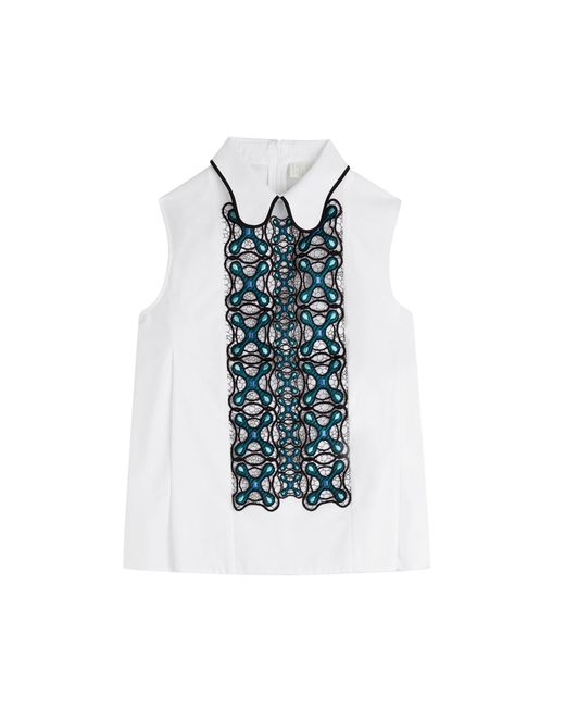 Peter Pilotto | Женское Белый Embroidered Blouse Gr. Uk 6
