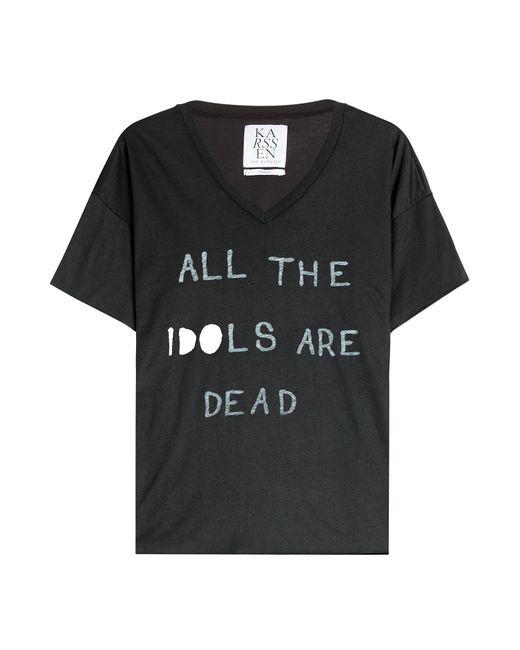 Zoe Karssen | Женское Чёрный Printed Jersey T-Shirt Gr. S