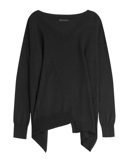 Donna Karan | Женское Чёрный Cashmere Top With Asymmetric Hem Gr. Xs