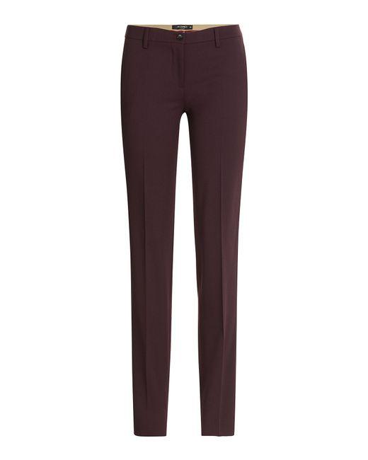 Etro | Женское Красный Stretch Wool Slim Pants Gr. It 38
