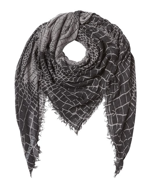 Zadig & Voltaire   Серый Printed Scarf Gr. One Size