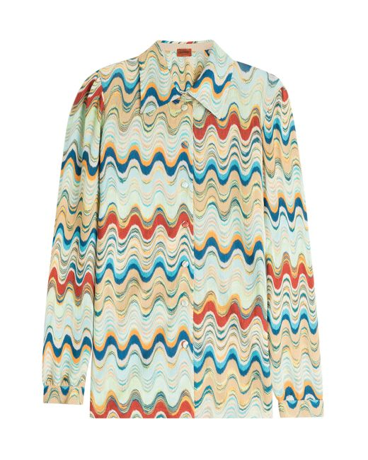 Missoni | Женское Многоцветный Printed Blouse With Wool Gr. It 42