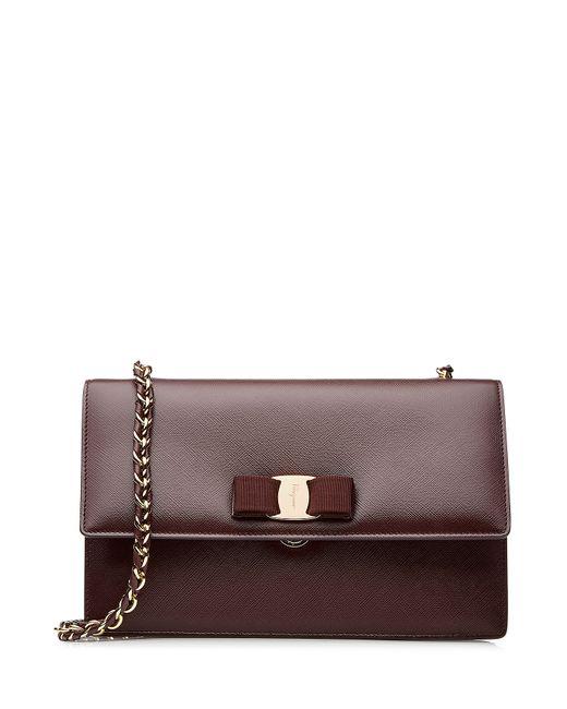 Salvatore Ferragamo   Женское Фиолетовый Ginny Leather Shoulder Bag Gr. One Size