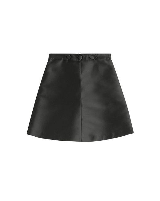 Red Valentino | Женское Чёрный Satin Skirt Gr. It 38