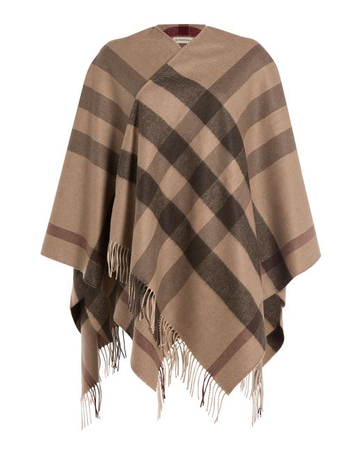 Burberry | Женское Многоцветный Printed Cashmere-Merino Wool Cape Gr. One Size