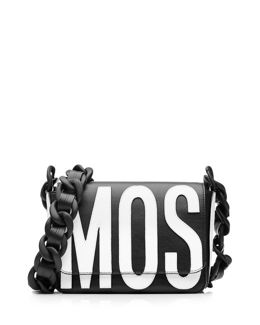 Moschino | Женское Чёрный Logo Leather Shoulder Bag Gr. One Size