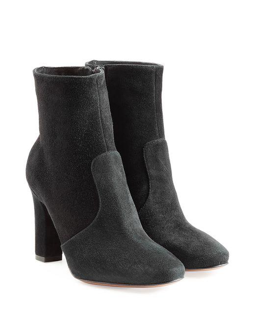 L' Autre Chose | Женское Чёрный Suede Ankle Boots Gr. 36