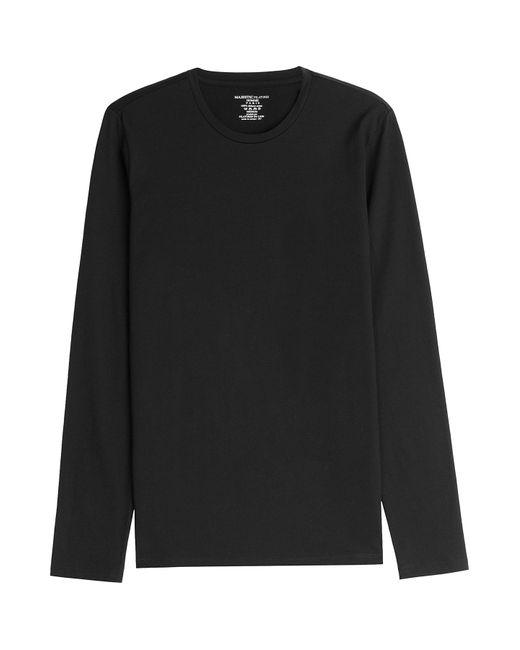 Majestic   Мужское Чёрный Long Sleeved Cotton Top Gr. M