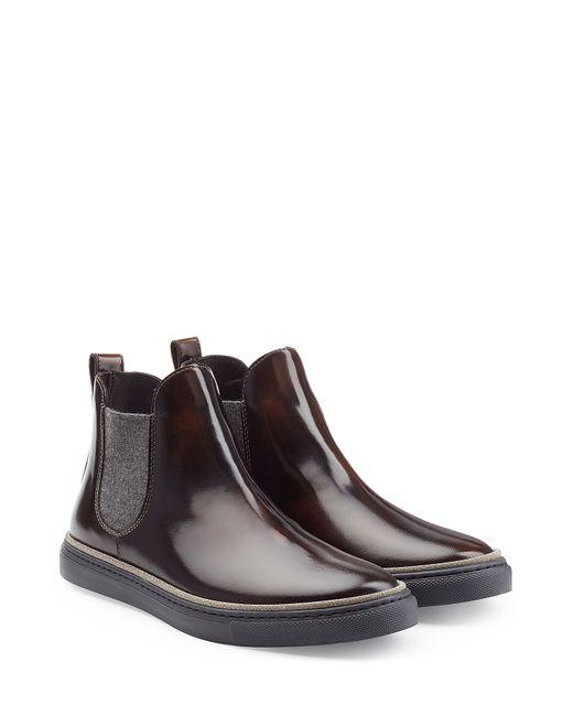 Brunello Cucinelli   Женское Коричневый Patent Leather Ankle Boots Gr. It 375
