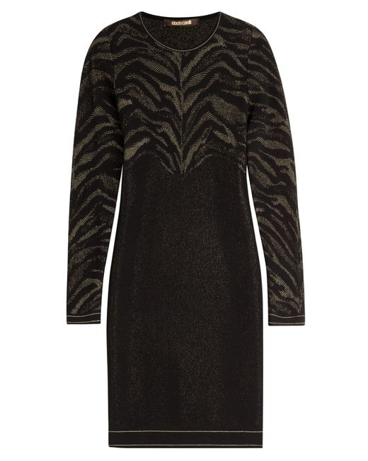 Roberto Cavalli | Женское Чёрный Stretch Dress With Metallic Thread Gr. 40