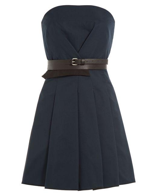 Victoria, Victoria Beckham | Женское Синий Dress With Leather Belt Gr. 4