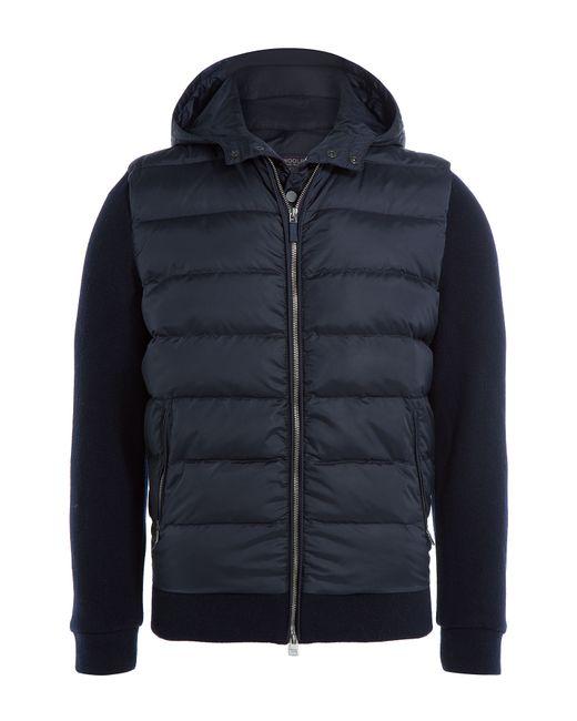 Woolrich | Мужское Синий Down Jacket With Jersey Sleeves Gr. M
