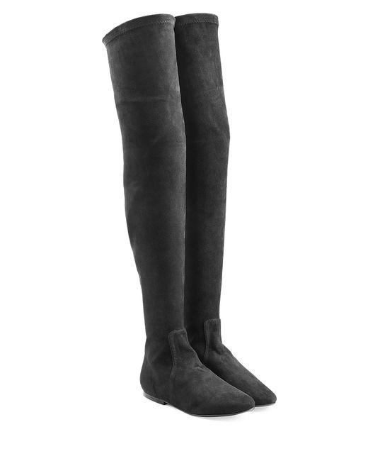 Isabel Marant Étoile   Женское Чёрный Suede Over-The-Knee Boots Gr. 36