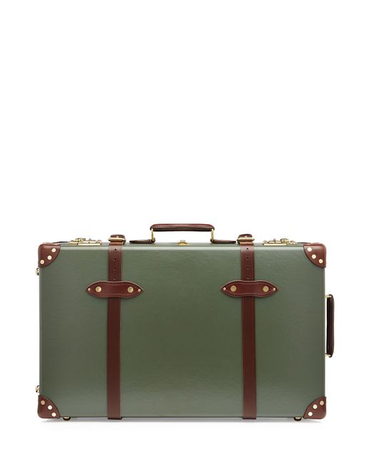 Globe-Trotter   Зелёный Centenary 28 Trolley Case With Leather Gr.