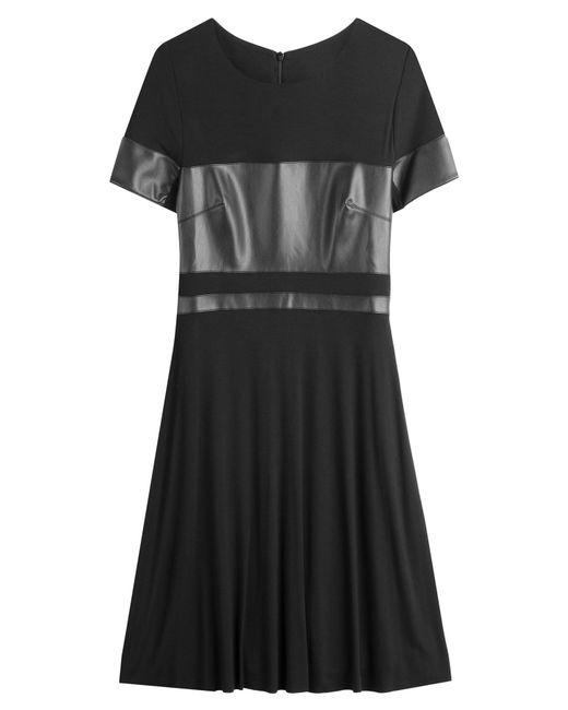 Bailey 44   Женское Чёрный Faux-Leather Paneled Dress Gr. M