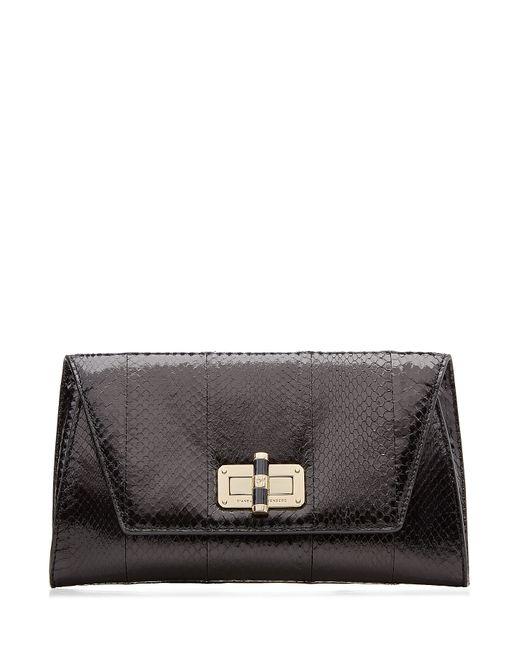 Diane Von Furstenberg | Женское Чёрный Leather Python-Embossed Clutch Gr. One Size