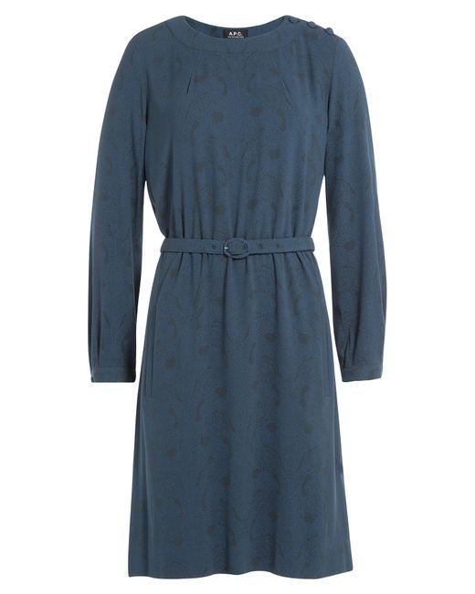 A.P.C. | Женское Синий Printed Dress Gr. Xs
