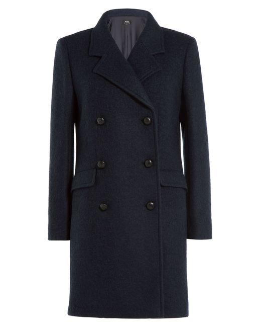 A.P.C.   Женское Синий Wool Coat Gr. M