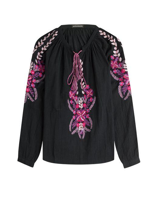 Antik Batik | Женское Чёрный Cotton Blouse Gr. 36