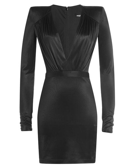 Balmain | Женское Чёрный Satin Mini Dress Gr. Fr 36