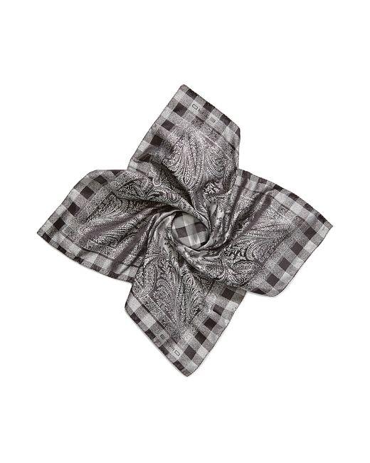 Etro | Серебристый Printed Silk Scarf Gr. One Size