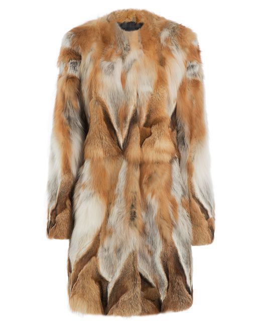 Tara Jarmon | Многоцветный Fox Fur Coat Gr. 36