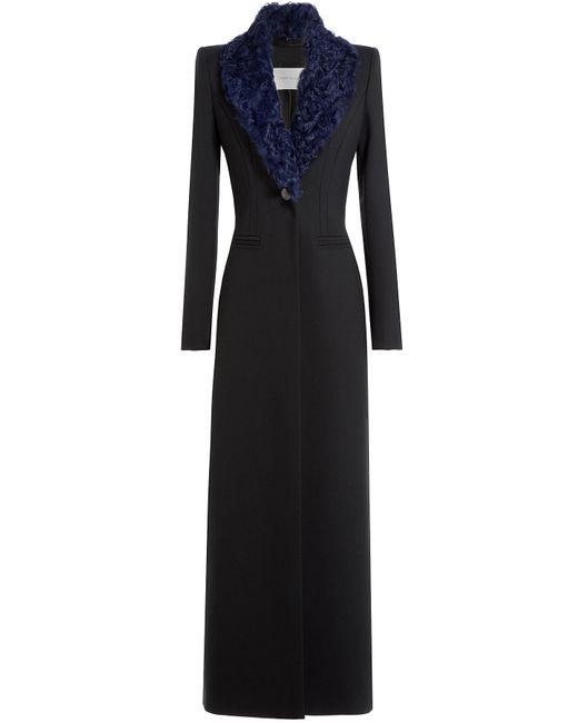 Pierre Balmain | Чёрный Long Coat With Shearling Collar Gr. 38
