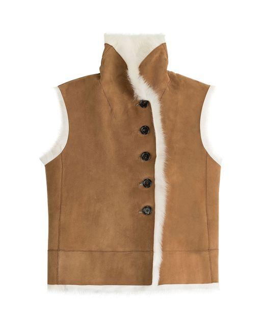 Joseph | Женское Camel Shearling Vest Gr. Fr 36