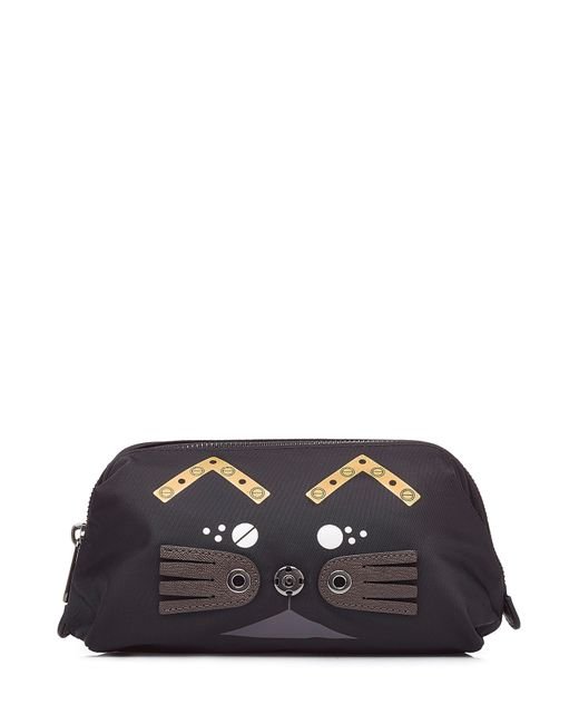Marc by Marc Jacobs | Женское Чёрный Cosmetic Bag With Cat Motif Gr. One