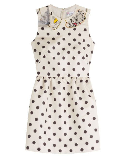 Red Valentino | Женское Dots Printed Dress With Embroidered Collar Gr. 38