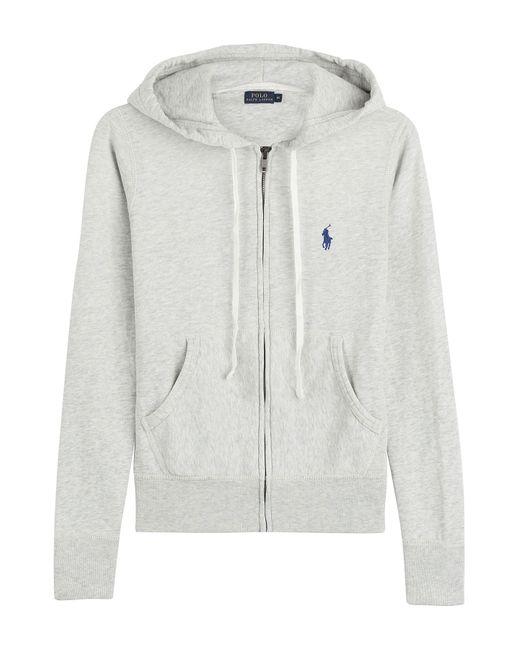 Polo Ralph Lauren | Женское Серый Zipped Jersey Hoodie Gr. S