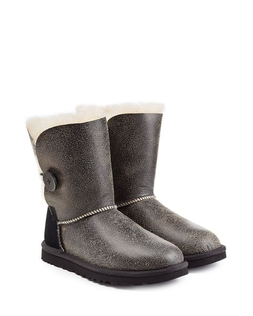 UGG Australia | Женское Чёрный Bailey Button Bomber Suede Boots Gr. 5