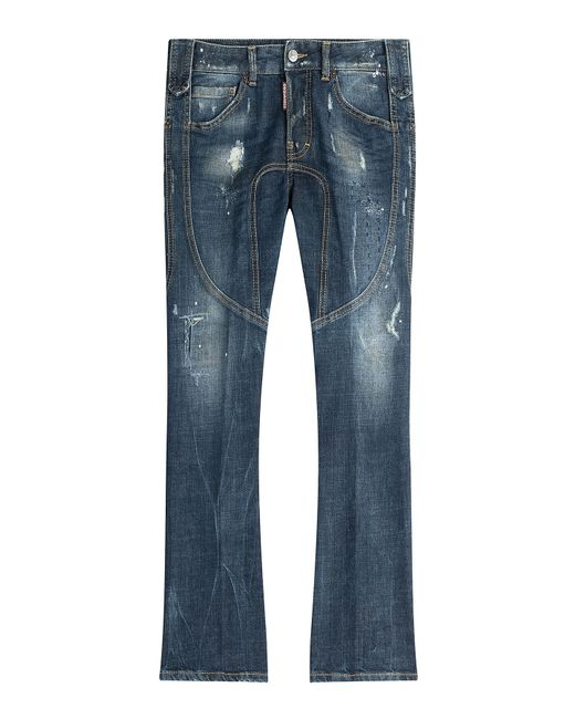 Dsquared2 | Женское Синий Distressed Straight Leg Jeans Gr. 38