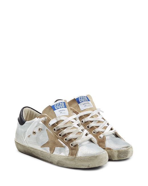 Golden Goose | Женское Серебристый Super Star Leather Sneakers Gr. 35