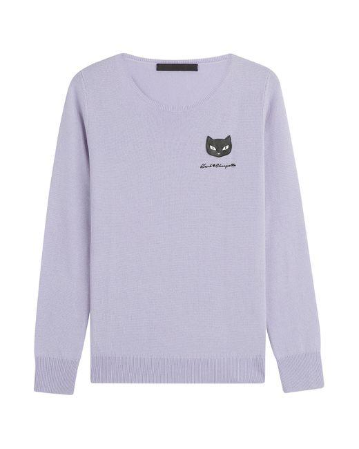 Karl Lagerfeld | Женское Фиолетовый Wool Pullover Gr. S