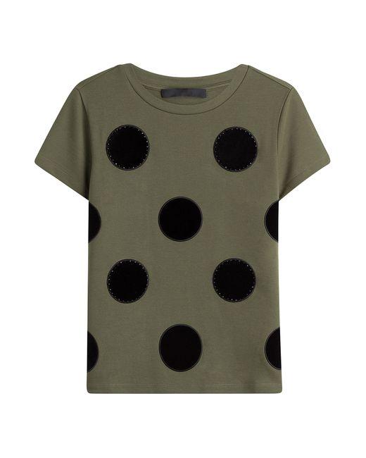 Karl Lagerfeld | Женское Зелёный Cotton T-Shirt With Applique Gr. Xs