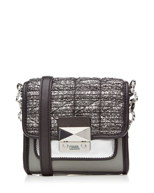 Karl Lagerfeld | Женское Серебристый Quilted Shoulder Bag With Leather Gr. One