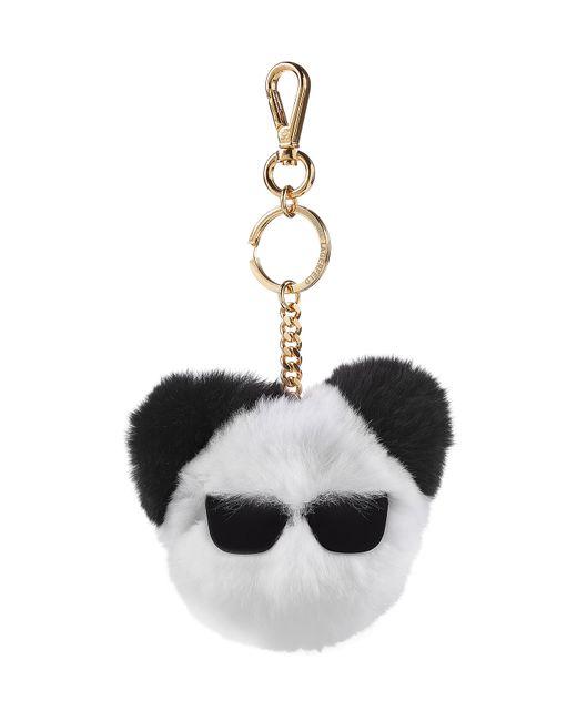 Karl Lagerfeld | Белый Rabbit Fur Keychain Gr. One Size