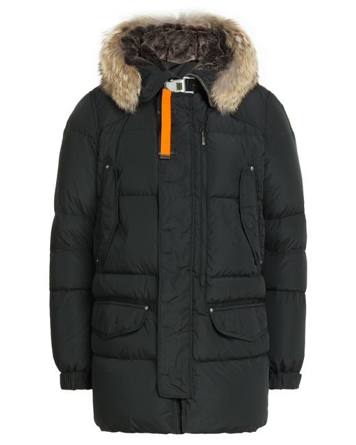 Parajumpers | Мужское Чёрный Down Jacket With Fur Trimmed Hood Gr.