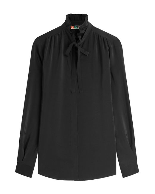 MSGM | Женское Чёрный Silk Blouse Gr. 38