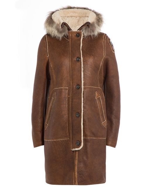 Parajumpers | Коричневый Sheepskin Coat With Shearling And Fur Gr.