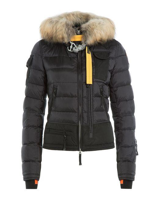 Parajumpers | Женское Чёрный Down Bomber Jacket With Fur-Trimmed Hood Gr.