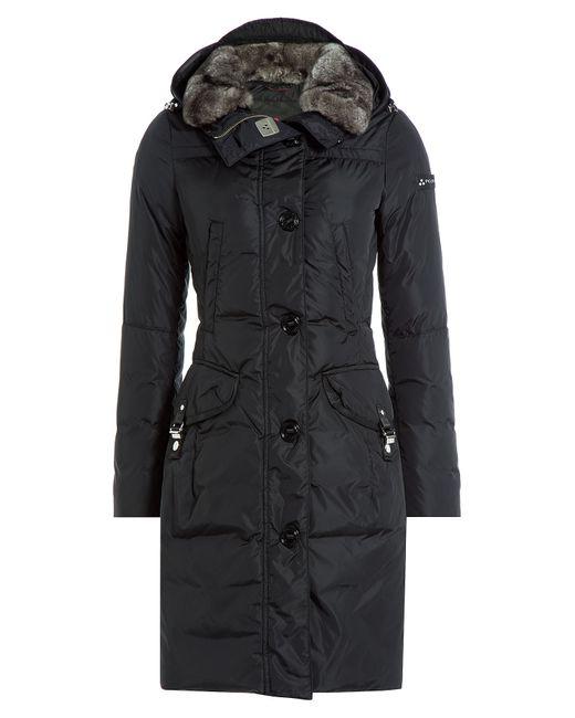 Peuterey | Женское Чёрный Down Jacket With Fur Trimmed Hood Gr.