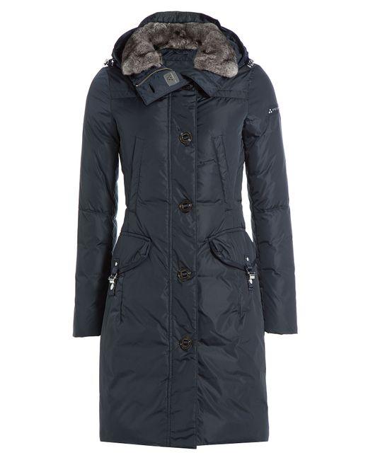 Peuterey | Женское Синий Down Jacket With Fur Trimmed Hood Gr.