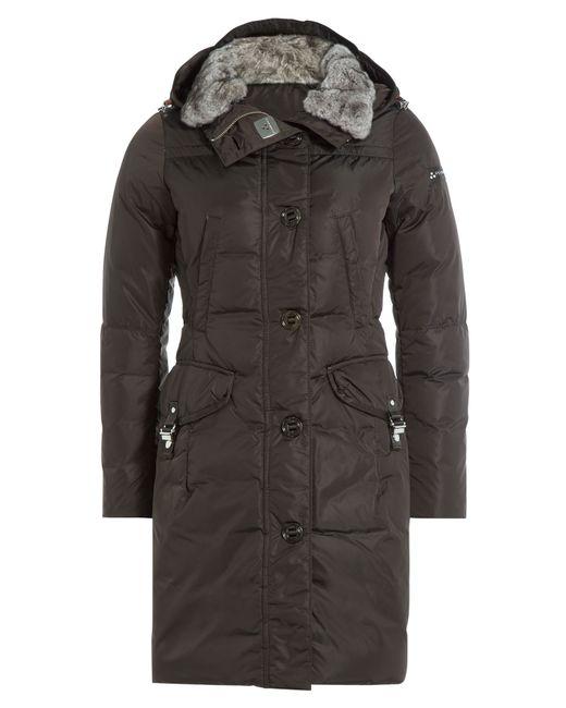 Peuterey | Женское Коричневый Down Jacket With Fur Trimmed Hood Gr.