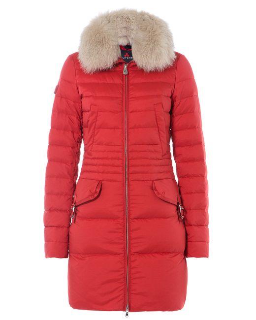 Peuterey | Женское Красный Ryan Ks Down Coat With Fox Fur