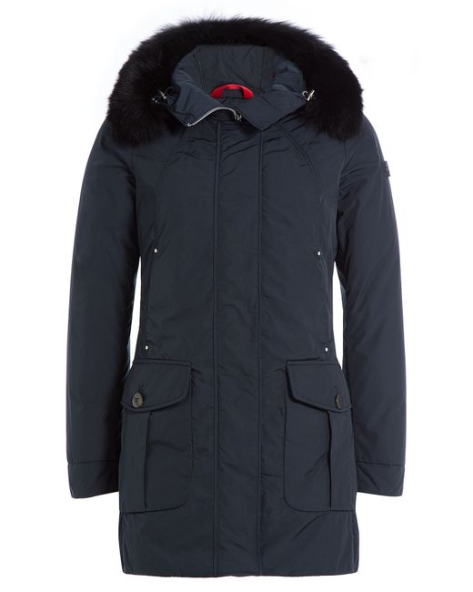 Peuterey | Женское Синий Regina Down Jacket With Fur Trimmed Hood