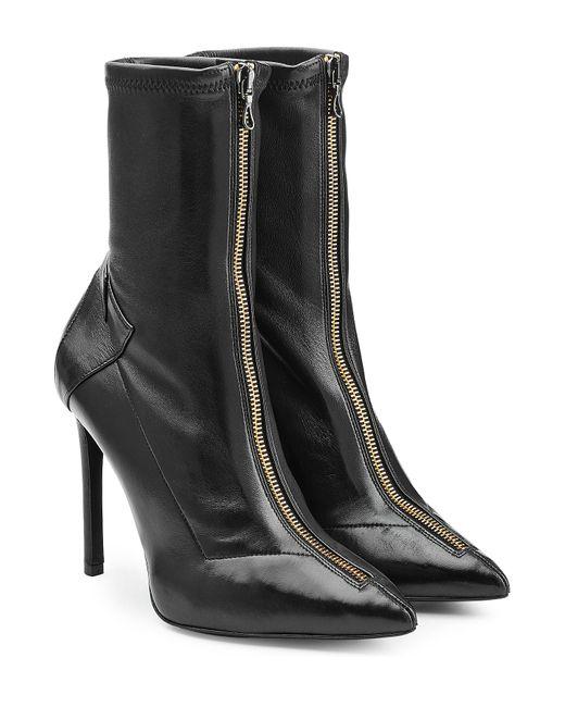 Roland Mouret   Женское Чёрный Leather Ankle Boots Gr. 36