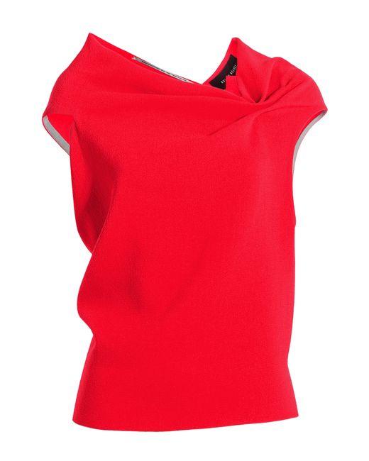 Roland Mouret | Женское Красный Wool Crepe Draped Top Gr. Uk 8